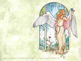 Angel of Spring Wallpaper by AngelaSasser