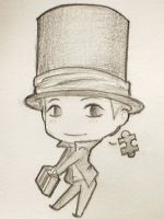Chibi Layton by ArCatiel