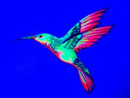 Hummingbird (under blacklight) by nicostars