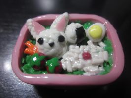 Polymer Clay Japanese Bento Box by Darklunax110