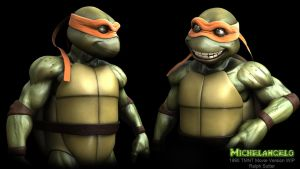 TMNT Mikey WIP (1990 Movie version) by FoxHound1984