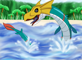Seadramon by Destiny-The-Hedgimon