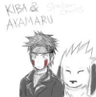 Kiba and Akamaru by Shadow-chan15