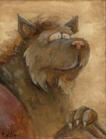 Contemplative Gnoll by GH-MoNGo