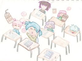 Chibis In A Class Room by Uxie77