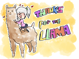 Thanks for the llama by kazumitakashi