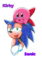 ID Crossover: Sonic and Kirby by aprict