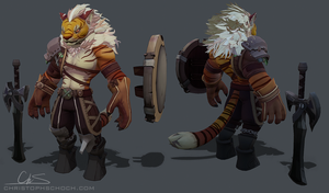 Lion Warrior - WIP by TheStoff