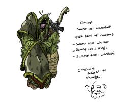 Swamp Troll Tenderfoot Combined Colors by CommissionMan