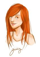 Ginny portrait by clarkey-lou