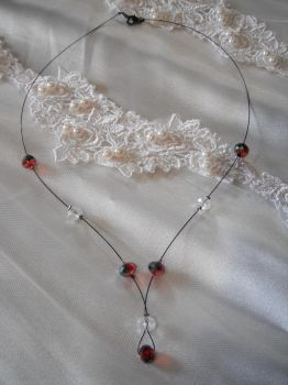 Floating Bridesmaid Necklace by Libbyscreations