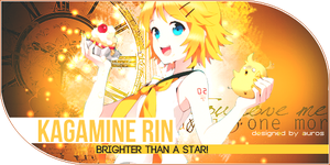 Kagamine Rin - Brighter than a star ! by AoiSoul