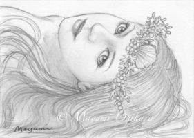 Mermaid Headdress - sketch by MayumiOgihara