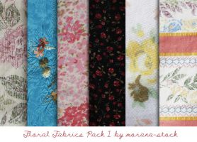 Floral Fabrics Pack 1 by morana-stock