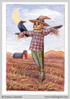 ACEO: Scarecrow by emla