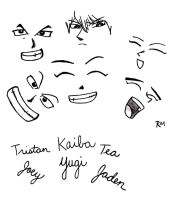 Yu-Gi-Oh Faces by Seto0946