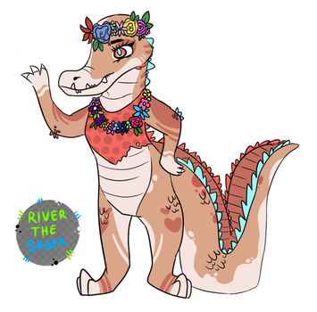 Floral Gator Adoptable by RivertheSaber by HewyToonmore