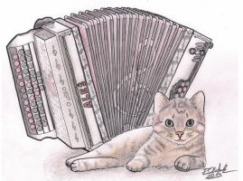 Instrument kitty - Colored by roxy932211