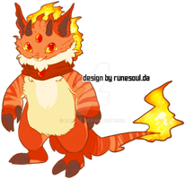 Fire Imp Adoptable [CLOSED] by Caesol