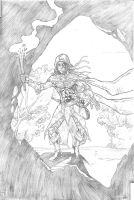 Thief Halfling - RPG commission A4 pencil by IgorChakal