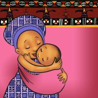 african mother and child by BSylphir