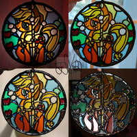 Applejack Stained Glass Painting by DevicTemple