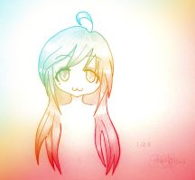 Cutie face inspired by Lucky Star by Sxania