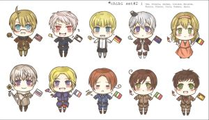 APH : chibi set2 by RuminE