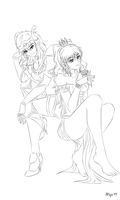 Hestia and Kendora by Sunrise-Spirit