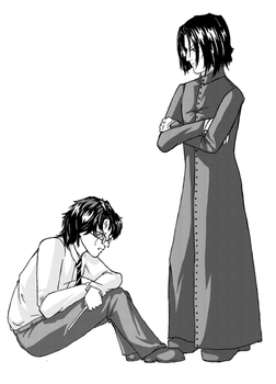 Snape and Harry by daestwen