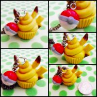 Pikachu Cupcake by cheese-cake-panda