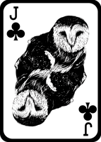 Barn Owl Playing Card (Jack of Clubs) by JackSephton
