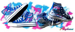 Commission: Blue Music Kicks by marywinkler