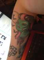 Zombie Girl Tattoo by Lady-Of-Erebor