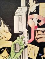 Judge Dredd color by kdawggomab