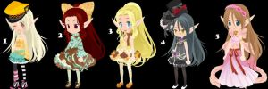 Elf Girl Trade to Adopt Set 15  CLOSED by AdoptableSoulxHeart