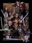 Star Wars: The Prequel Trilogy by happydragonpictures