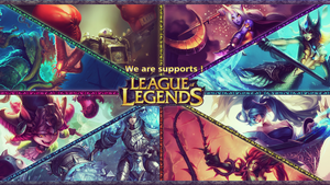 League of Legendes Supports Wallpaper by Utitake