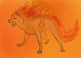 firewolfsketch by dark-kita