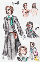 Harold Ref Doodles by LadyVentuswill