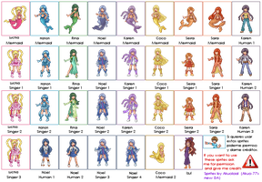 Mermaid Melody Sprites by Akuo-P