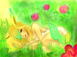 Leafeon by printscreen-kii