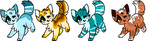 Cat Adopts!! 5-10 points .:OPEN:. by DestryDoesAdopts
