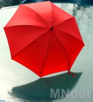 The Red Umbrella - On Ice by MNdot