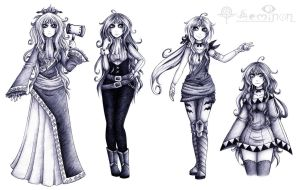 Neya Nyr (Concept + Basic Outfits) by Seminon