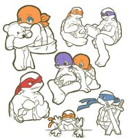 TMNT: Another sketch by NamiAngel