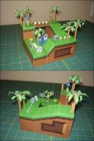 Green Hill Zone Papercraft by toader