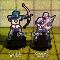 Paper Mini Preview: Bowman and Swordsman by Pasiphilo