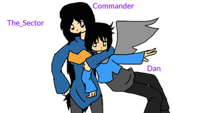 Commander and Dan by The-Sector
