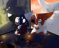 Swiftpaw and Brightheart by WarriorCat3042
